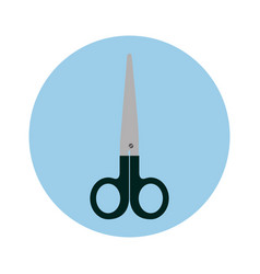 First aids scissors icon vector