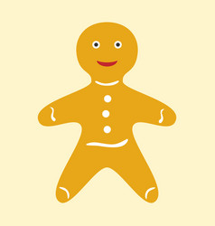 Happy gingerbread man vector
