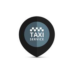 Taxi cab logo design taxi point graphic icon vector
