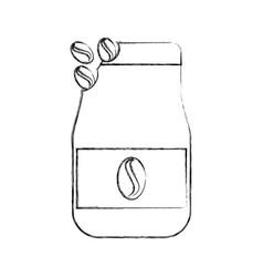 Coffee toast bag icon vector
