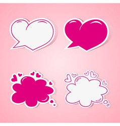 Love speech bubbles vector