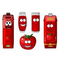 Fresh tomato and tomato juice vector image