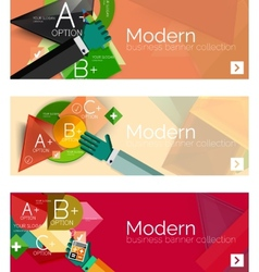 Modern flat design infographic banners vector