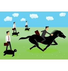 Racing - businessmen riding a horse vector