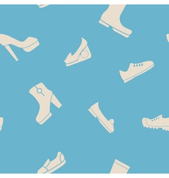 Seamless background with shoes vector