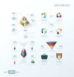 3D abstract infographic design vector image