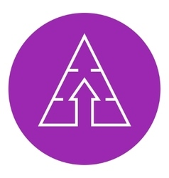 Pyramid with arrow up line icon vector