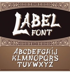 Label font modern style whiskey style vector