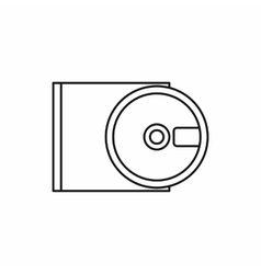 Dvd drive open icon outline style vector