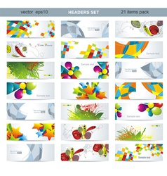 Mega pack of banners vector image