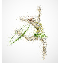 Abstract gymnast2 vector image