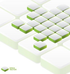 Array of green blocks background vector