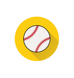 Baseball line art icon on white background vector