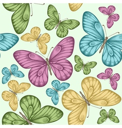 Beautiful seamless background with butterflies vector image vector image