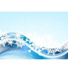 Blue abstract Xmas design vector image vector image