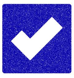 check icon grunge watermark vector image