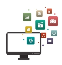 Computer icon Gadget design graphic vector image