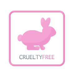 Cruelty free flat icon vector