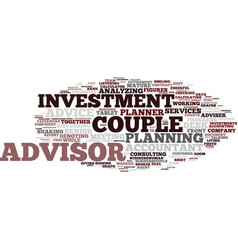 Financial advisor word cloud concept vector