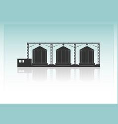granaries vector image