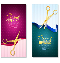 Grand Opening Vertical Banners Set vector image vector image