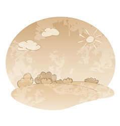 grungy landscape in beige colors vector image