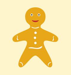 Happy gingerbread man vector