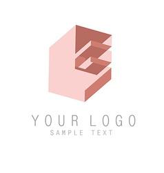Letter E icon vector image vector image