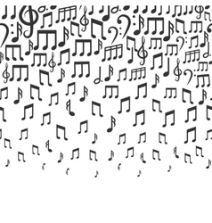 Music background with falling musical notes vector