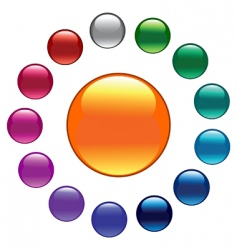 palette color buttons vector image