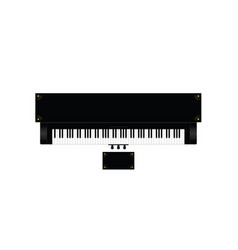 Piano instrument with decor on it vector