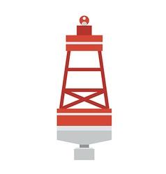 Sea buoy float icon vector