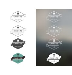 Set of outdoor adventure and forest camp hiking vector image