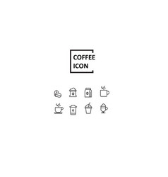 simple coffee icon vector image
