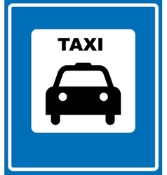 Taxi blue sign - of taxi symbol on vector