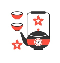 tea ceremony icon eps 8 vector image