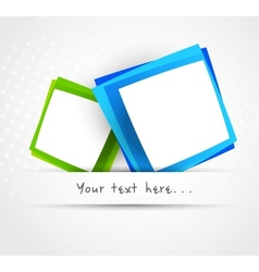 Two squares vector image vector image