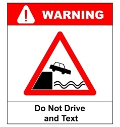 Warning do not drive and read vector