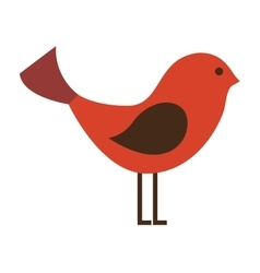 Cute bird animal isolated vector