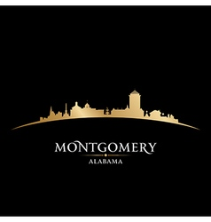 Montgomery alabama city skyline silhouette vector