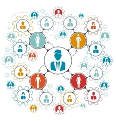 Business people team work managment structure vector