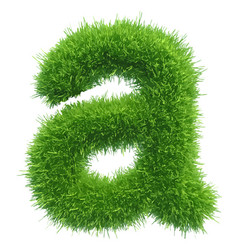 small grass letter a on white background vector image