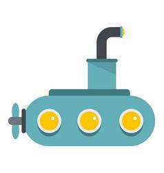 Submarine icon isolated vector