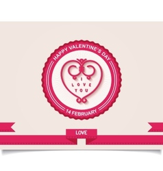 Vintage valentines day labels design element vector