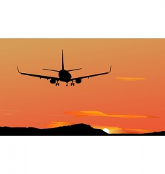 Silhouetted plane vector