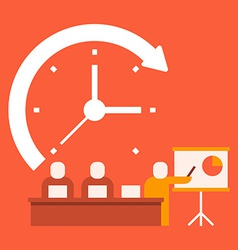 Time business presentations vector