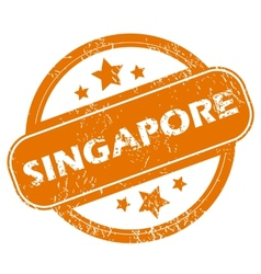 Singapore grunge icon vector