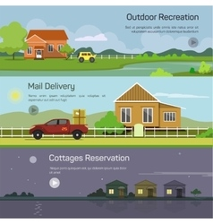 Banners - outdoor recreation mail delivery vector