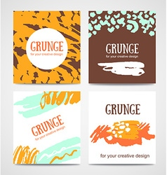 Set of trendy invitations with scribble texture vector image