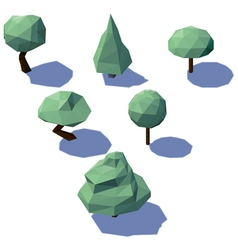 Low poly trees vector